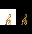 golden treble clef in hands vector image