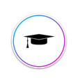 graduation cap icon isolated on white background vector image vector image