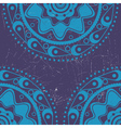 Grunge blue ornament vector image