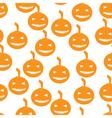 Halloween pumpkins seamless pattern background vector image vector image