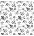 hand drawn sketch stars seamless pattern childish vector image vector image