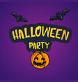 happy halloween cartoon doodle poscard vector image vector image