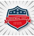 happy memorial day shield vector image
