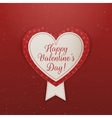 Happy Valentines Day Textile Emblem with Ribbon vector image vector image