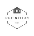 hd television logotype vector image