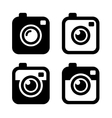 Hipster Photo or Camera Icons Set vector image