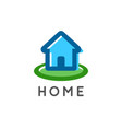 home logo for a real estate and home repair vector image vector image