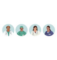 indian medics medical characters doctors and vector image vector image