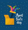 jester hat april fools day dots background vector image vector image