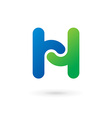 Letter H logo icon design template elements vector image vector image