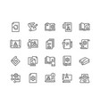 line technical documentation icons vector image