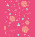 memphis 80s 90s style abstract trendy background vector image