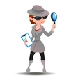 Mystery shopper woman in spy coat vector image vector image