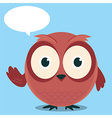 Owl Say With balloon talk vector image vector image