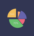 pie chart icon set of great flat icons with vector image