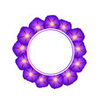purple morning glory flower banner wreath vector image vector image