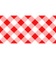 red and white argyle tablecloth seamless pattern vector image vector image