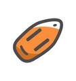 rescue lifeguard buoy icon cartoon vector image vector image