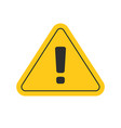 risk attention road sign or alert caution yellow vector image