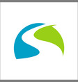 river logo design template vector image