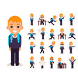 school boy student pupil in different poses and vector image vector image