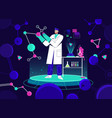 scientist working in laboratory holding huge vector image