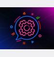 seo gears line icon settings cogwheel sign vector image vector image