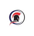 spartan helmet logo template vector image vector image