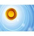 sun in blue sky vector image vector image