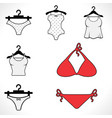 swimsuits or bikini icon vector image vector image