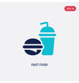 two color fast food icon from health concept vector image vector image