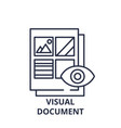 visual document line icon concept visual document vector image vector image