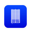window with wooden jalousie icon digital blue vector image vector image