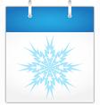 Winter calendar page vector image vector image