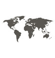 world map grey colored on a white background vector image vector image