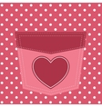pink pocket with heart vector image