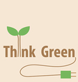 Think green Eco concept vector image