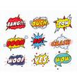 set comic sound speech effect bubbles vector image