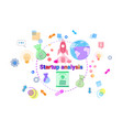 startup analysis concept business idea development vector image