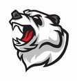 angry panda roar mascot logo design vector image vector image