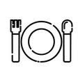 baby plate spoon icon design clip art line icon vector image