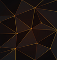 black and gold abstract polygon background