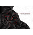 black triangle polygon red light with white gray vector image