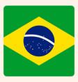 brazil square flag button social media vector image