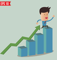 Business man fall from graph - - EPS10 vector image