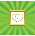 Cardiology picture icon vector image vector image
