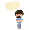 cartoon dad with folded arms with speech bubble vector image vector image