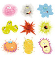 cartoon germs virus and microbes vector image vector image