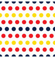 colorful polka dots rainbow seamless pattern vector image