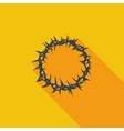 Crown of thorns single icon vector image vector image